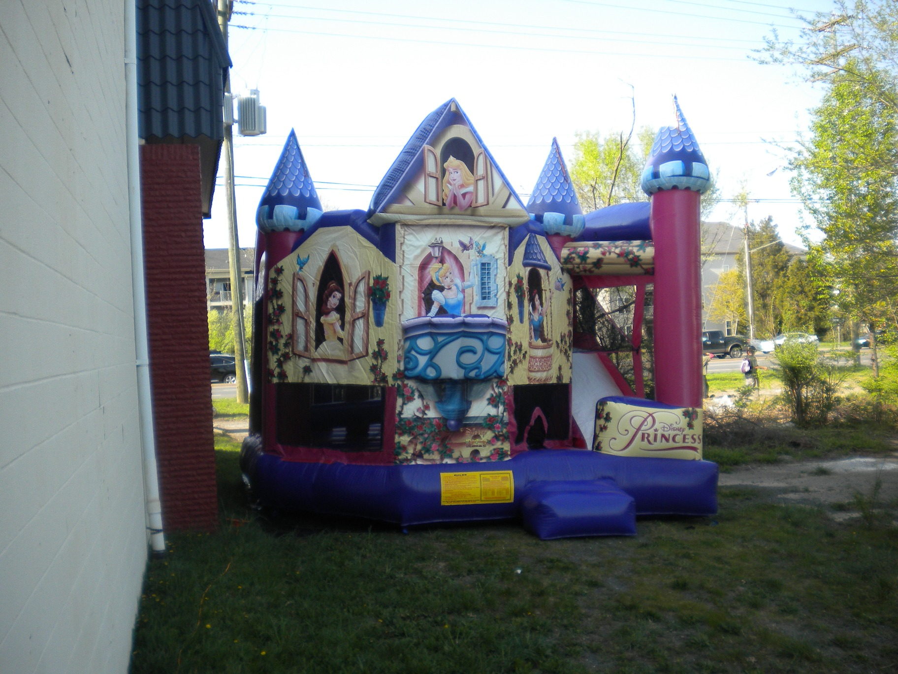 Disney Princess Combo Jumper Moonbouce Bounce House Front Left View
