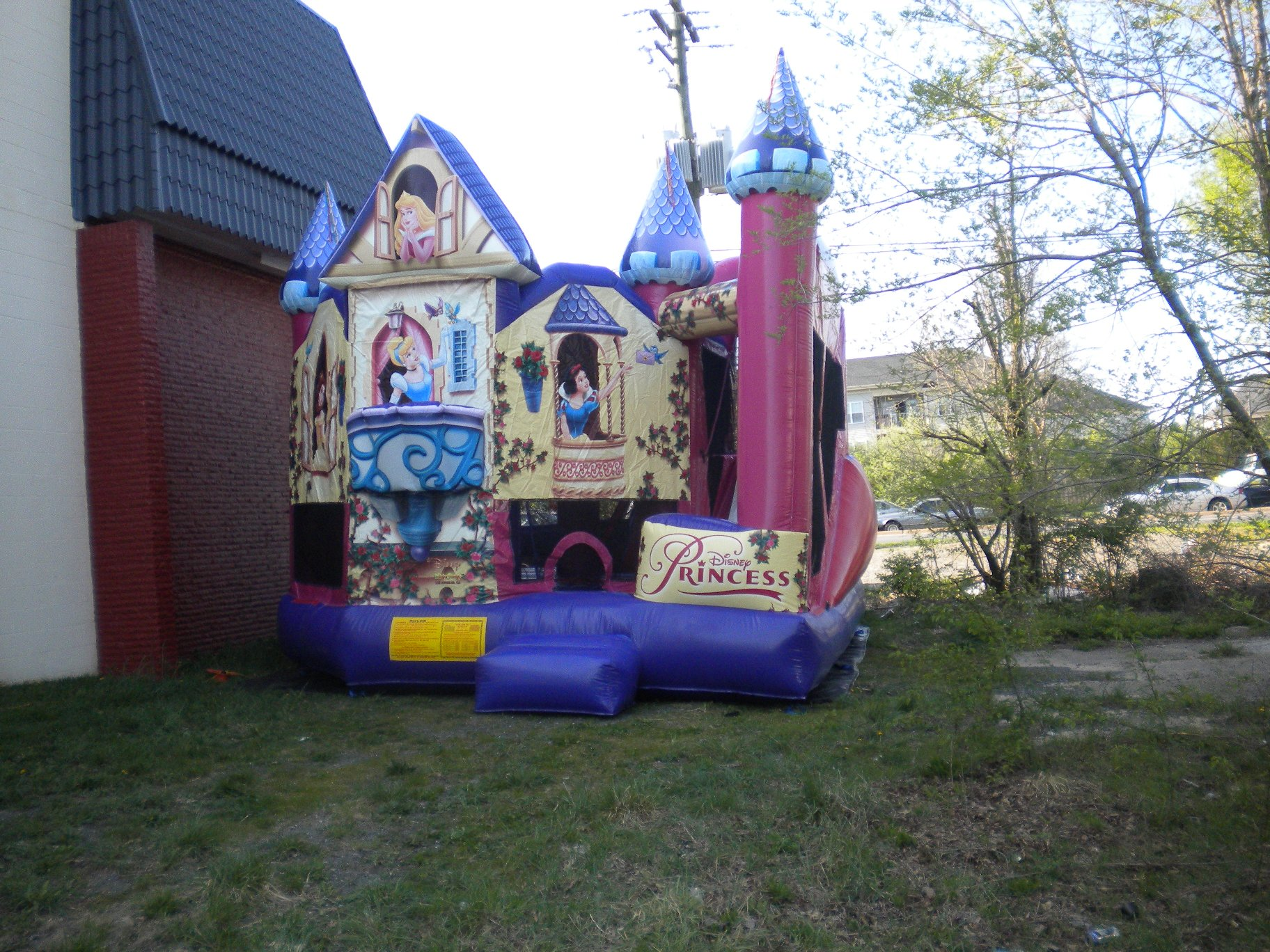 Disney Princess Combo Jumper Moonbouce Bounce House Front Right View