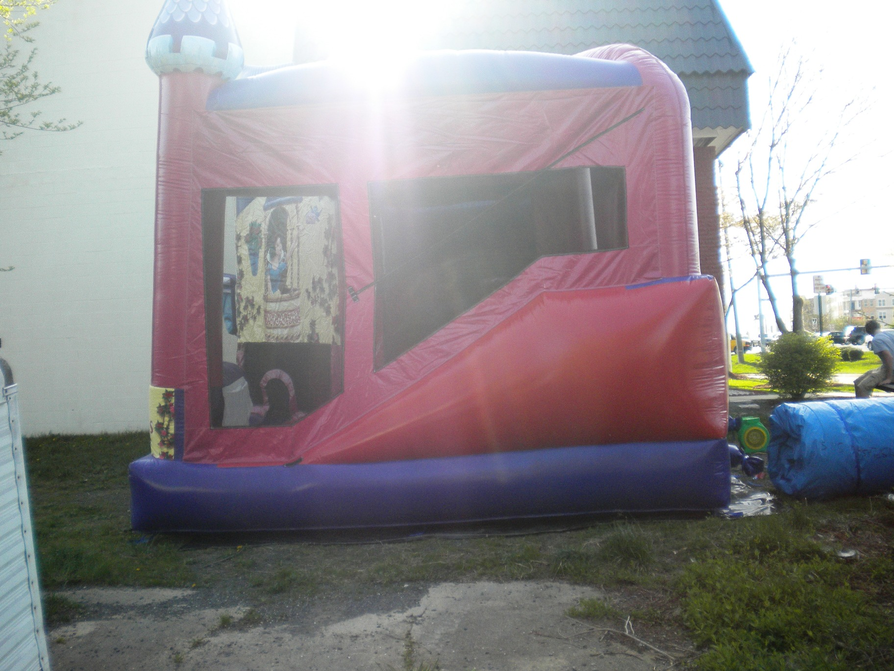 Disney Princess Combo Jumper Moonbouce Bounce House Right Side View