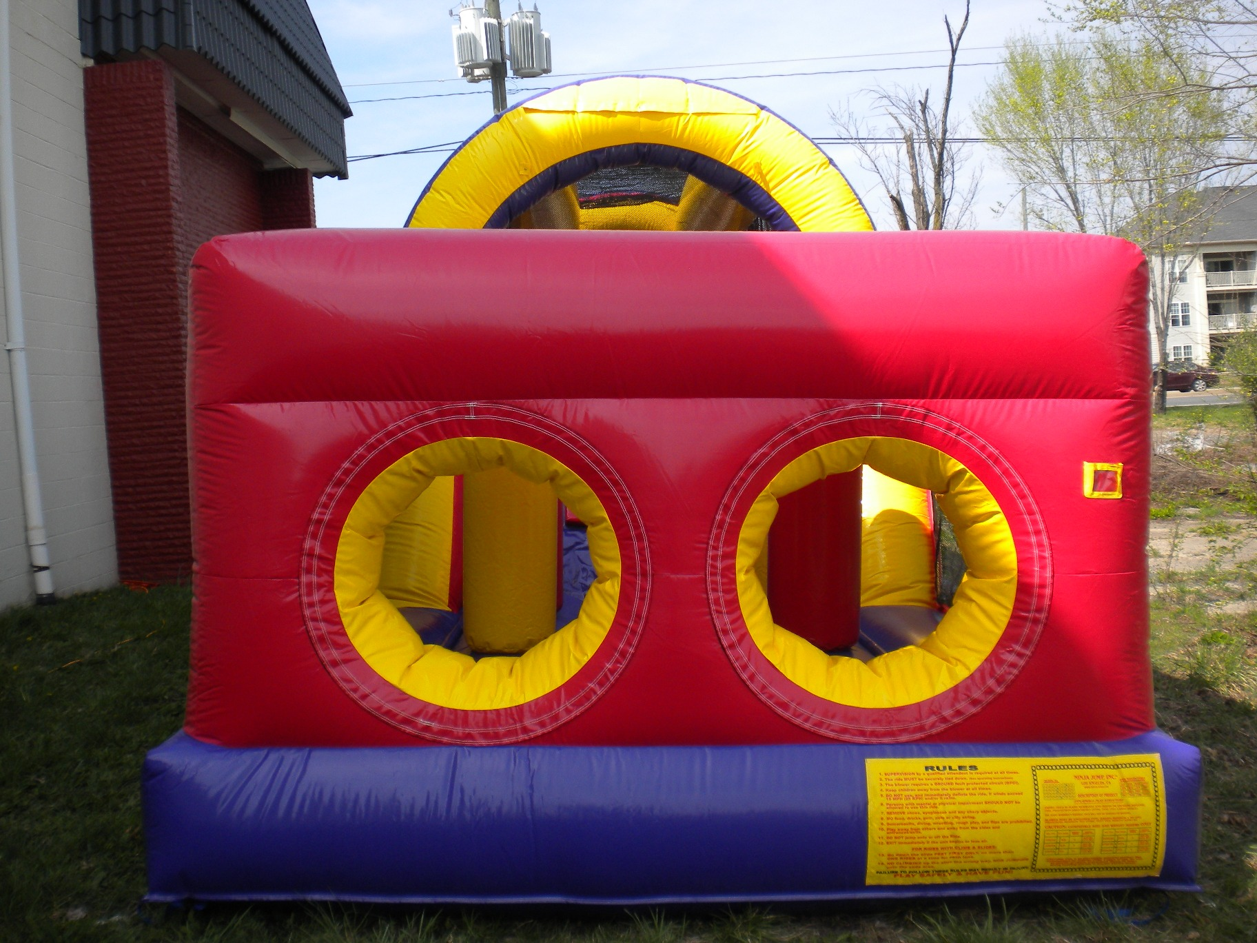backyard obstacle challenge moonbounce bounce house the