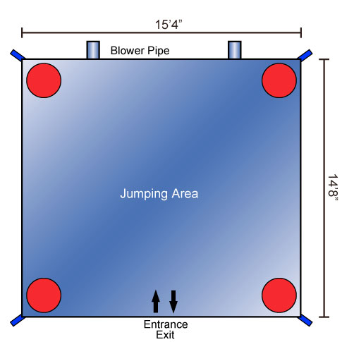 Cars Jumper Moonbounce Bounce House Schematics