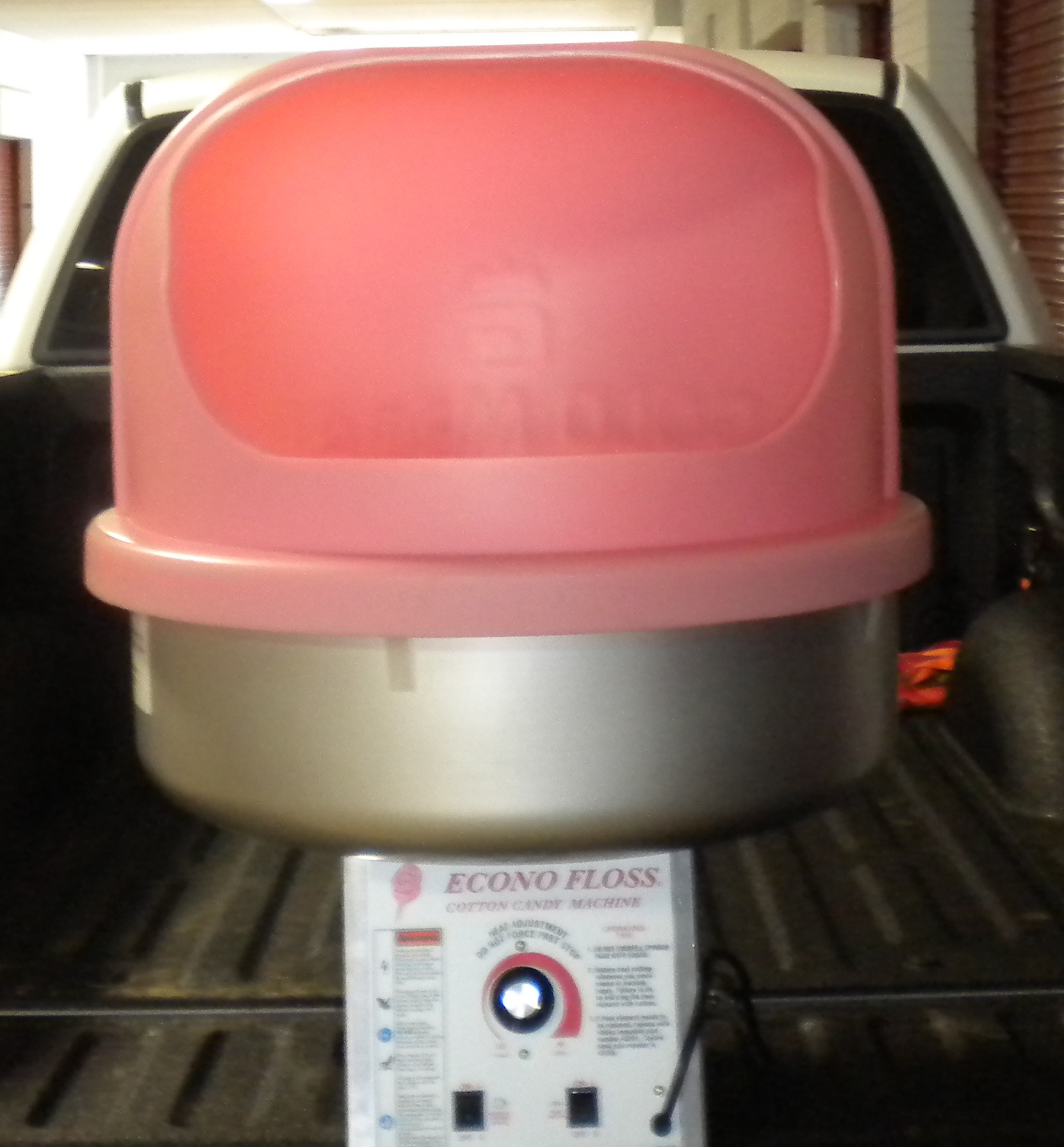 Pink Cotton Candy Machine Front View