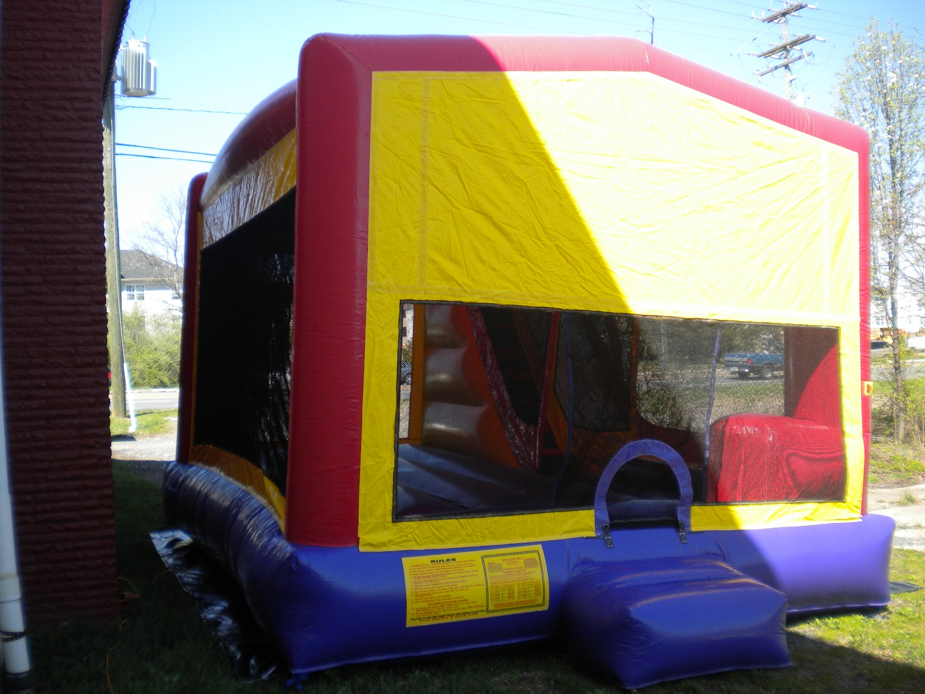 Blank Module Combo Bounse House Front Left View