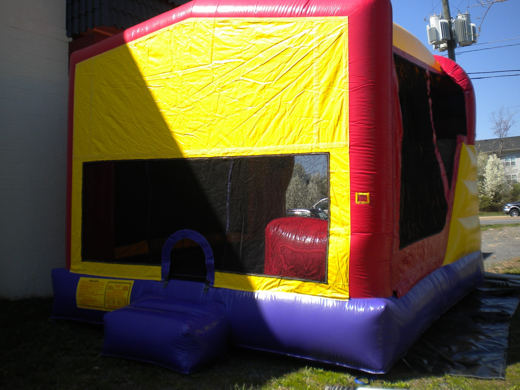 Blank Module Combo Bounse House Front Right View