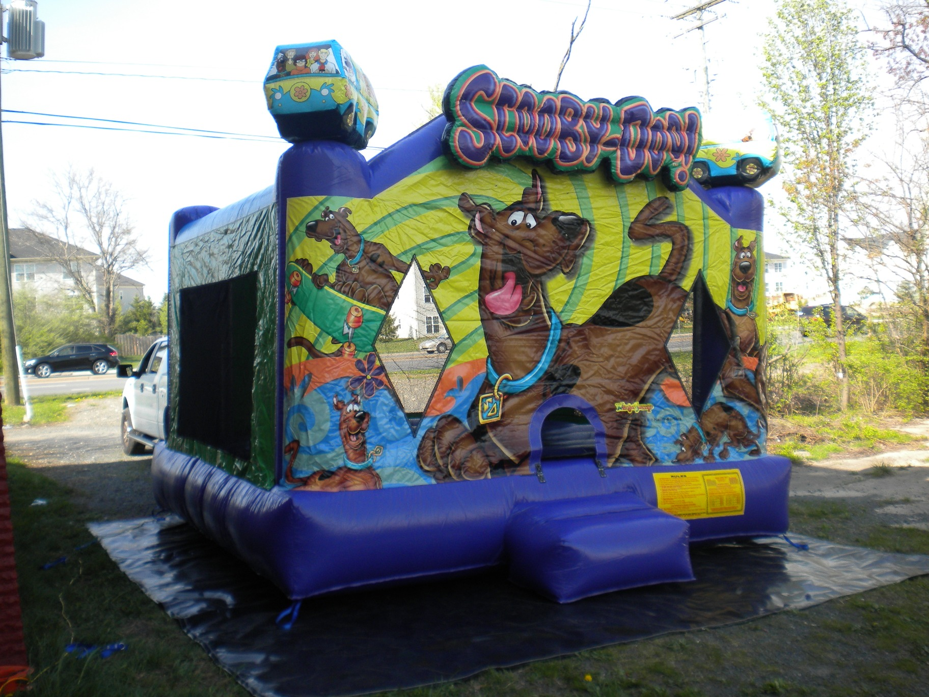 Scooby Doo Jumper Moonbounce Front Left View