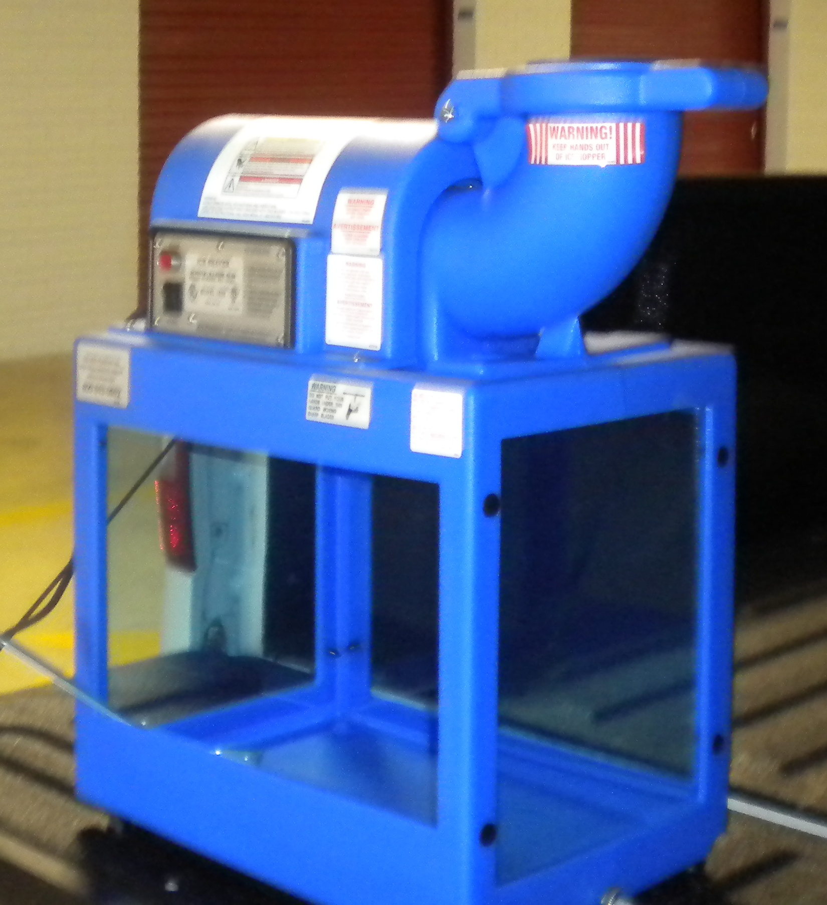 Snow Cone Machine Front Right View